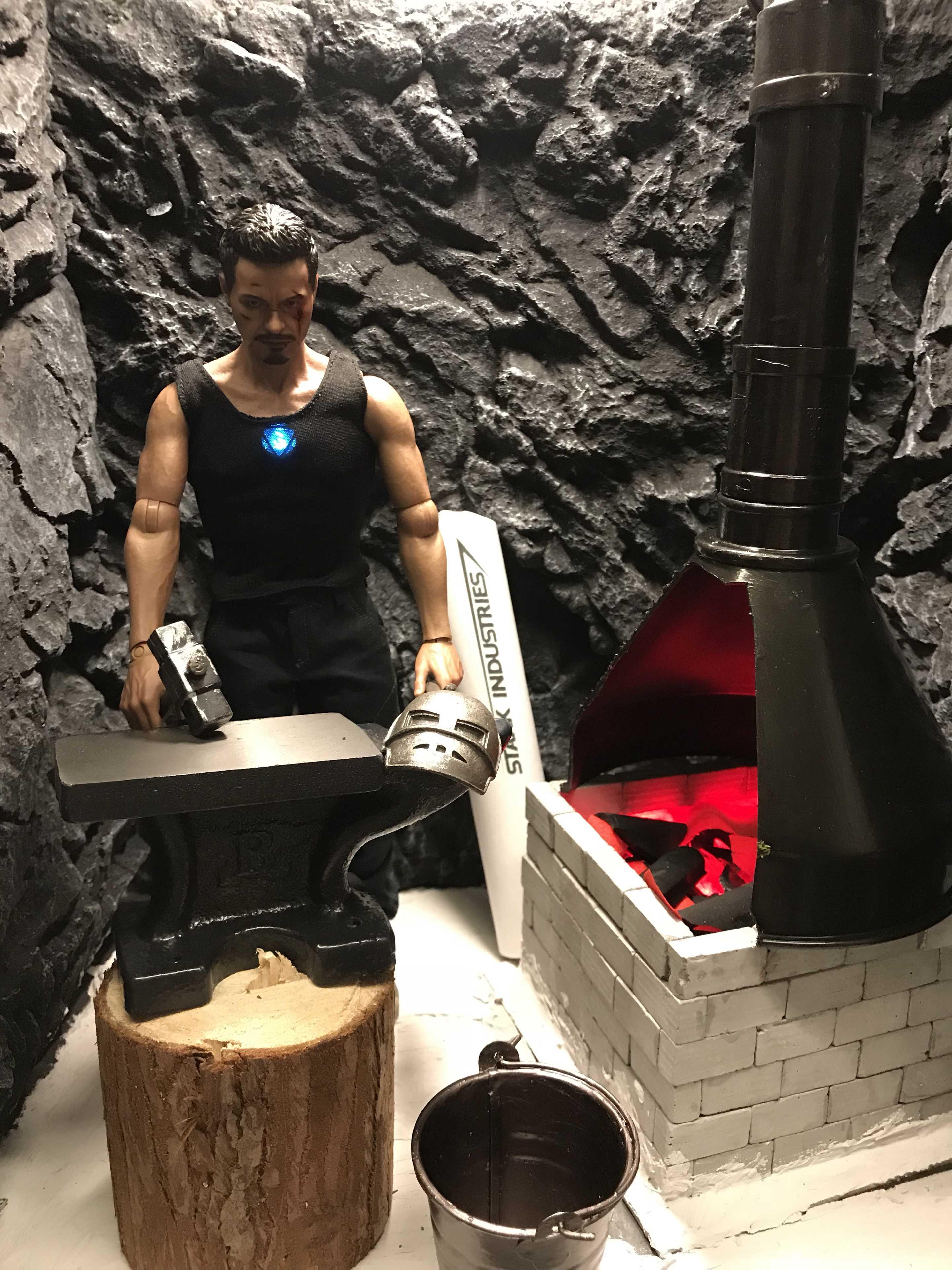 Iron Man Making His Armor