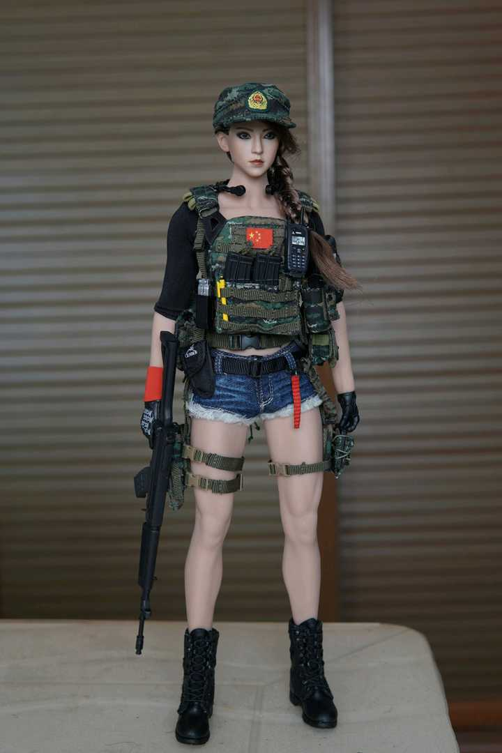 Chinese Female Soldier 1/6 Scale Figure DIY