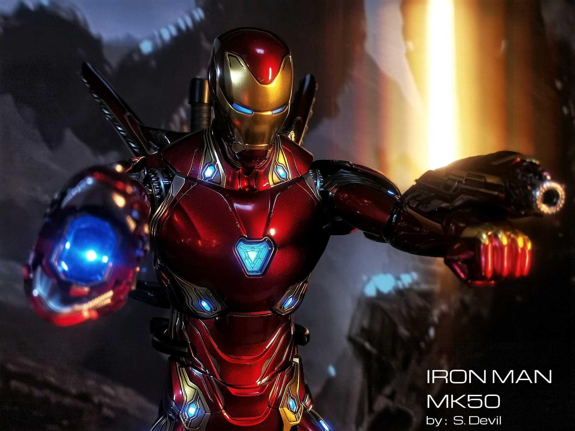 Hot Toys Iron Man Mark 50 Gallery Figround