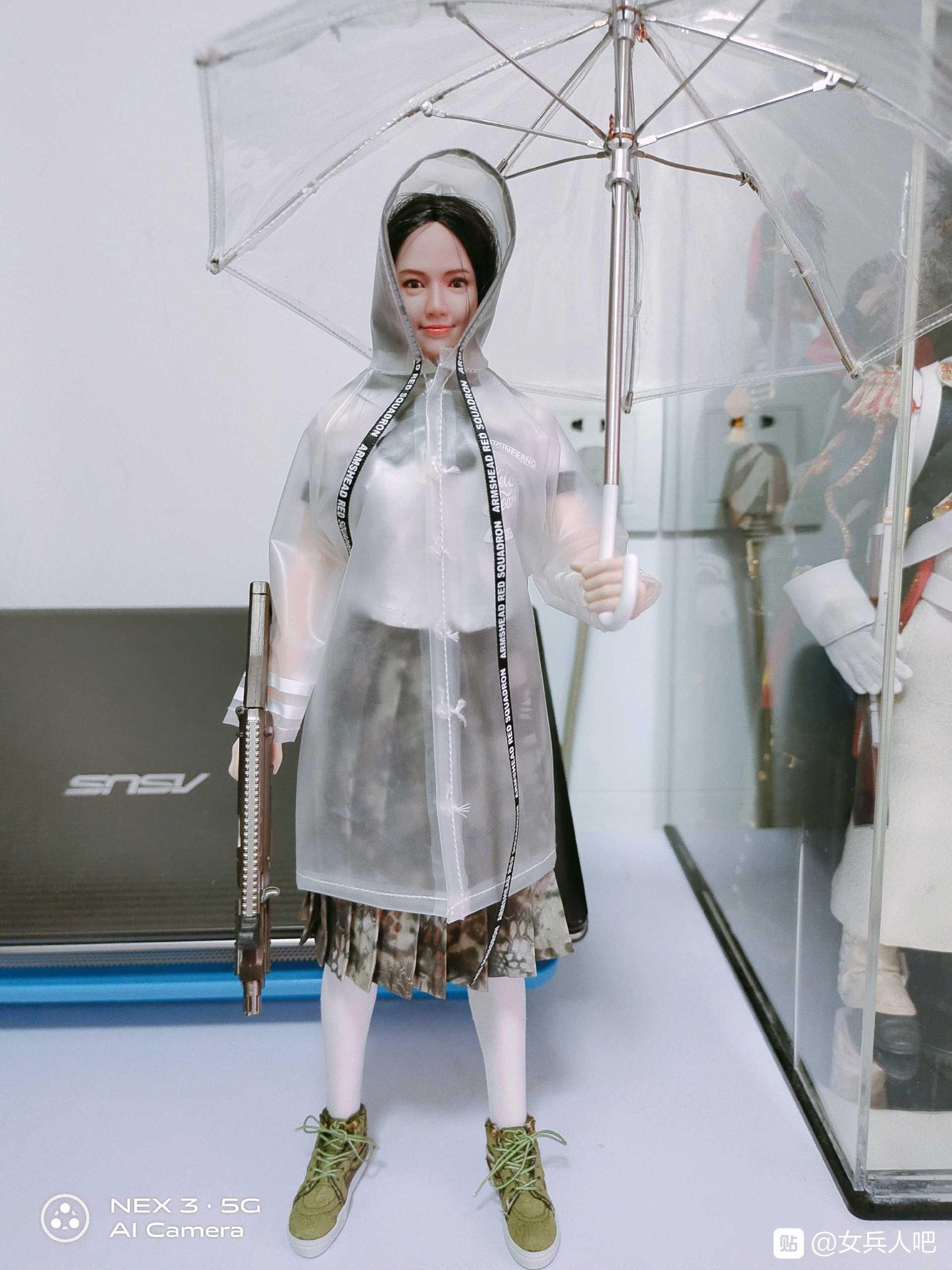 ARMSHEAD JK-03 1//6 Scale Female Soldier Girlset Transparent Raincoat Model